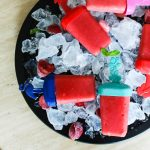 watermelon strawberry ice lollies